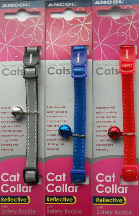 ANCOL GLOSS REFLECTIVE CAT COLLARS 1, 2, 3, 4, 5, 6, 10 or 12 pack deal